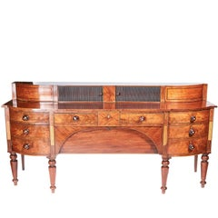 Large Outstanding Quality Georgian Inlaid Mahogany Sideboard