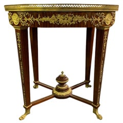 Large Oval French Empire Side Occasional Table, 20th Century