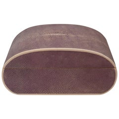 Large Oval Lavender Authentic Shagreen Covered Box