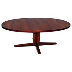 Large Oval Rosewood Dining Table John Mortensen for Heltbørg Møbler
