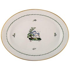 Large Oval Royal Copenhagen Serving Dish in Hand Painted Porcelain