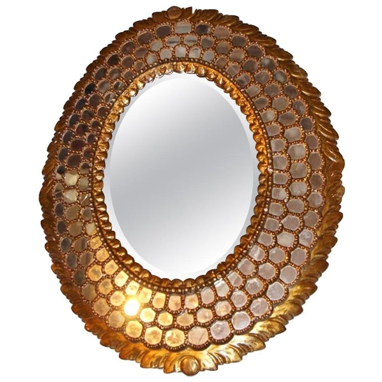 Large Oval Spanish Mirror For Sale