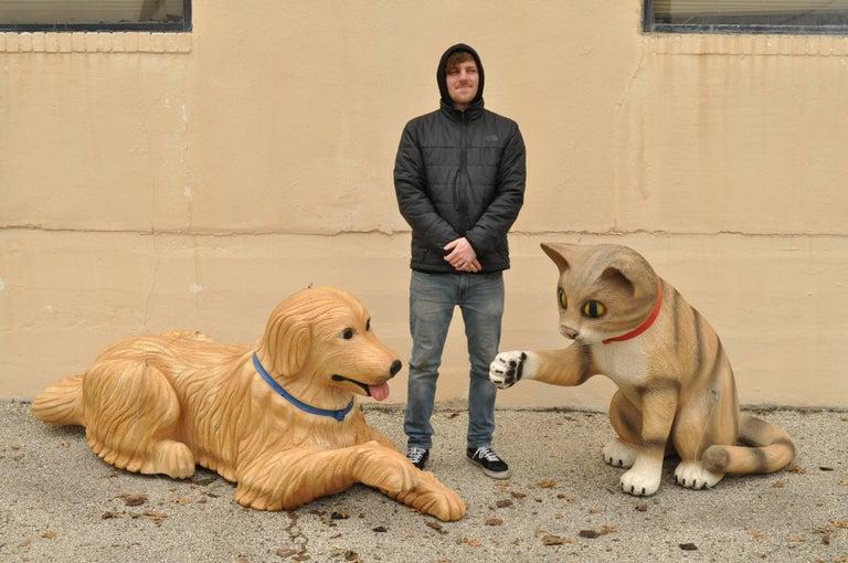Large Oversize Fiberglass Labrador Retriever Dog Mannequin Retail Store Display For Sale 4