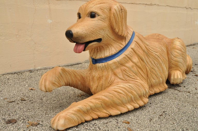 Mid-Century Modern Large Oversize Fiberglass Labrador Retriever Dog Mannequin Retail Store Display For Sale