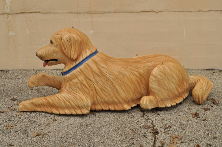 American Large Oversize Fiberglass Labrador Retriever Dog Mannequin Retail Store Display For Sale