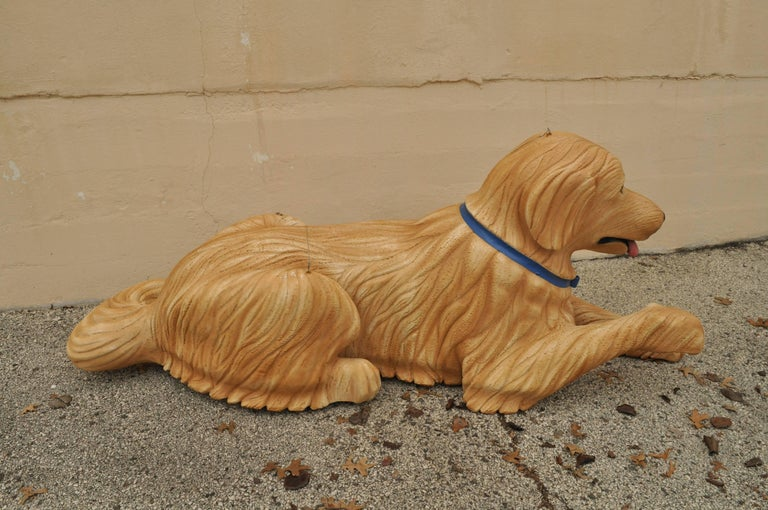 Late 20th Century Large Oversize Fiberglass Labrador Retriever Dog Mannequin Retail Store Display For Sale