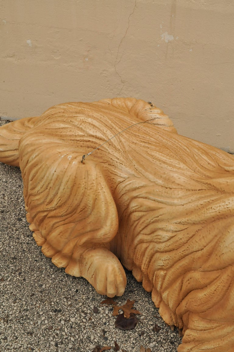 Paint Large Oversize Fiberglass Labrador Retriever Dog Mannequin Retail Store Display For Sale