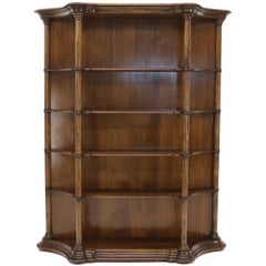 Large Oversize Figural Country French Style Open Bookcase with Spindles