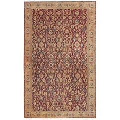 Large Oversized Antique Indian Agra Carpet. Size: 16 ft 6 in x 27 ft 3 in