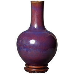 Large Oxblood Vase with Qianlong Nin Choi Mark