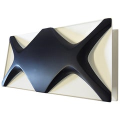 Large Oyster Light Panel by Dieter Witte & Rolf Krüger for Staff, 1968