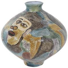 Large Pablo Picasso Mosaic Ceramic Vase