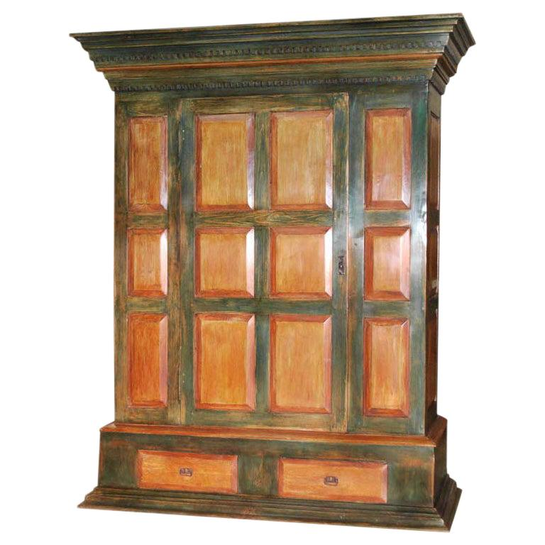 Large Painted Armoire For Sale