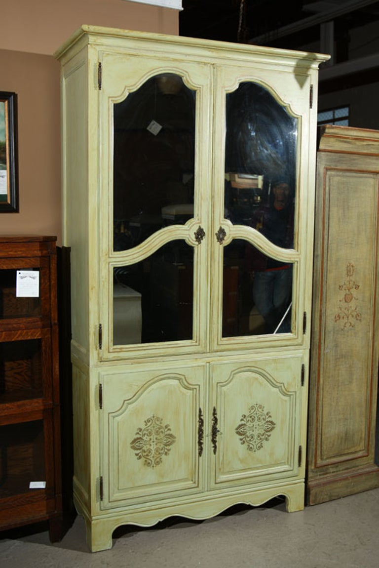 Large Painted Baker Furniture Company Armoire For Sale at ...