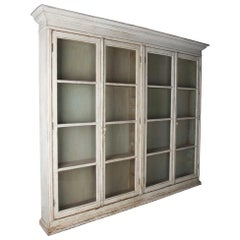 Large Painted Display Cabinet