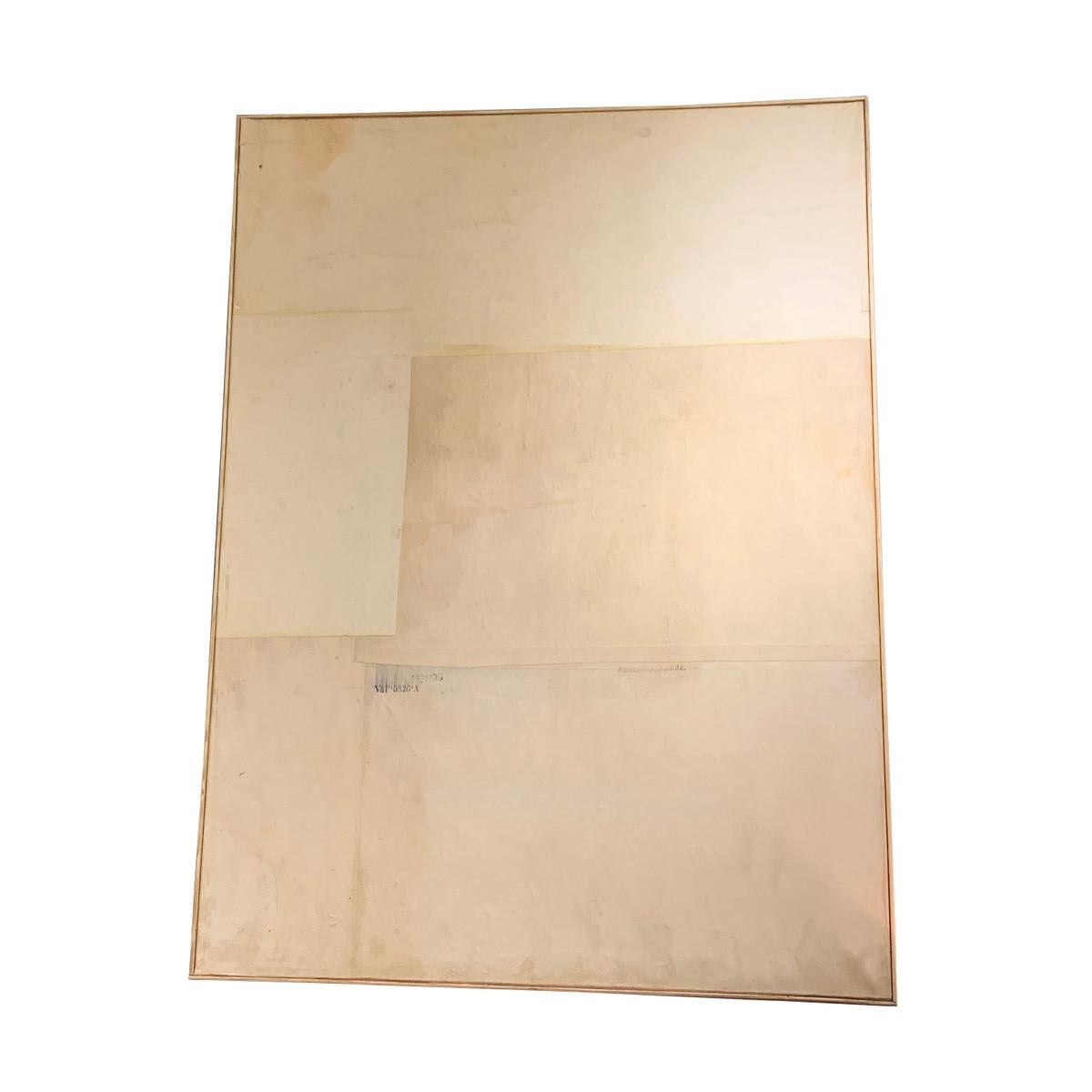 Artist T Mars Large Painting, Neutral Colors, France, 1960s
