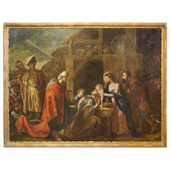 Large Painting Early 18th Century Religious Scene