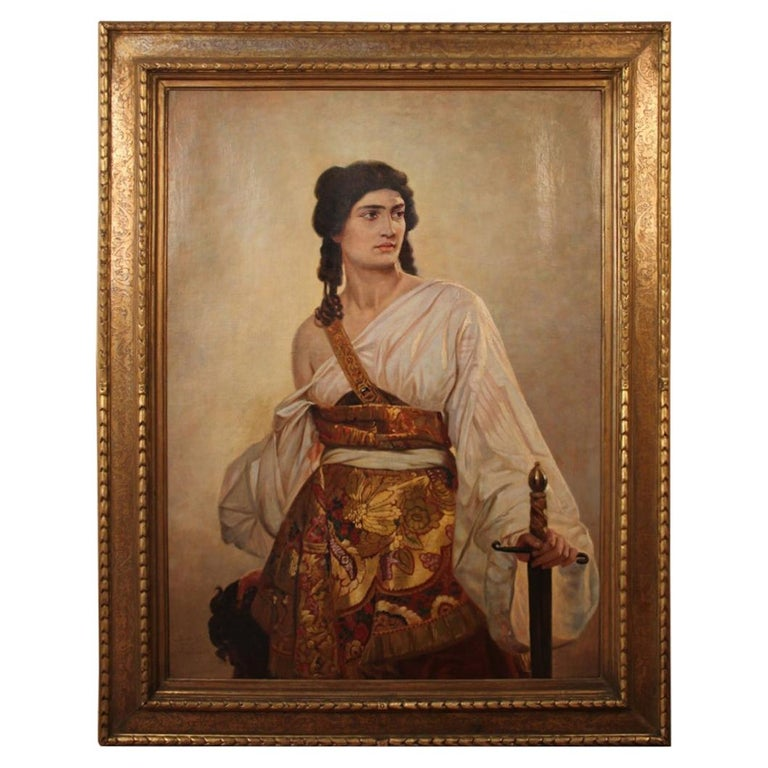"""Large Painting """"Judith at the head of Holofernes"""" d'après riedel For Sale"""