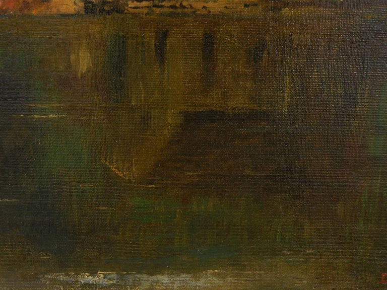 Large Painting of 'River Landscape' by Edmund Darch Lewis American, 1835-1910 For Sale 4