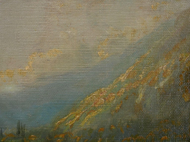 Large Painting of 'River Landscape' by Edmund Darch Lewis American, 1835-1910 For Sale 6