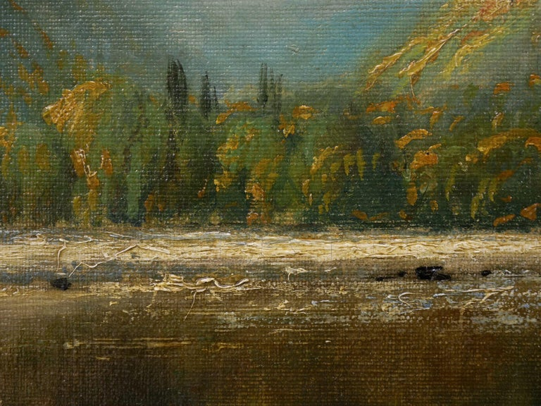 Large Painting of 'River Landscape' by Edmund Darch Lewis American, 1835-1910 For Sale 7