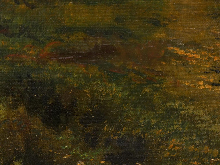 Large Painting of 'River Landscape' by Edmund Darch Lewis American, 1835-1910 For Sale 9