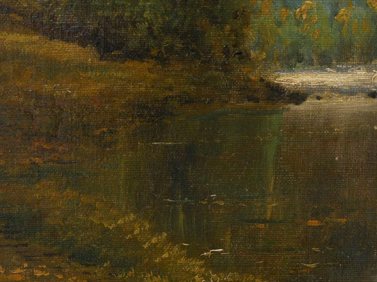 Large Painting of 'River Landscape' by Edmund Darch Lewis American, 1835-1910 For Sale 10
