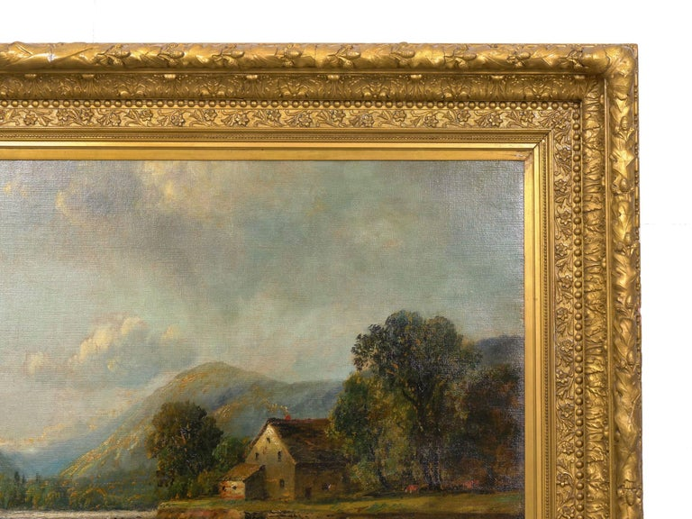 Large Painting of 'River Landscape' by Edmund Darch Lewis American, 1835-1910 For Sale 11