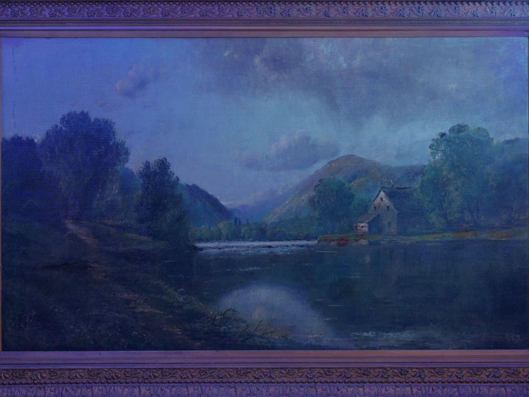 Large Painting of 'River Landscape' by Edmund Darch Lewis American, 1835-1910 For Sale 12
