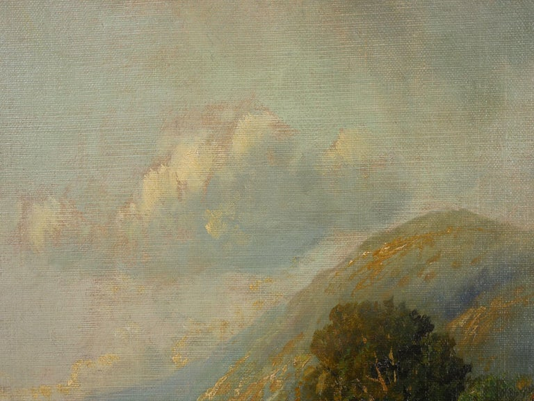 Large Painting of 'River Landscape' by Edmund Darch Lewis American, 1835-1910 For Sale 2