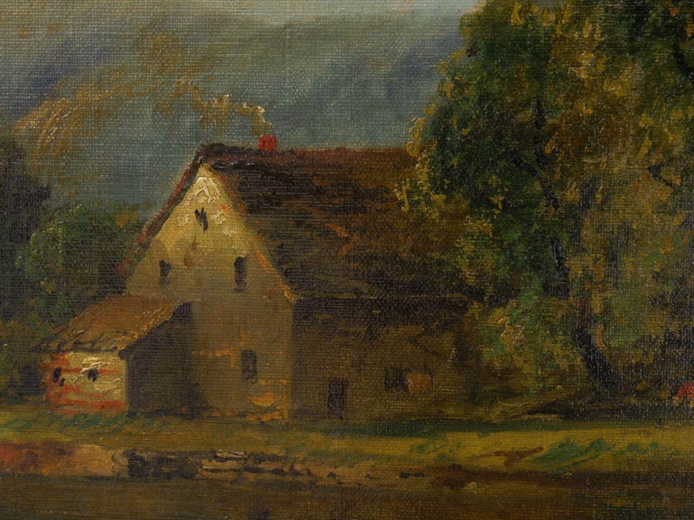 Large Painting of 'River Landscape' by Edmund Darch Lewis American, 1835-1910 For Sale 3