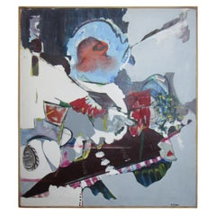Large Signed Painting by Artist Elaine Miller