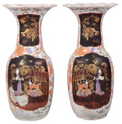 Large Pair of 19th Century Japanese Arita Porcelain Vases