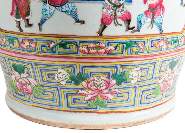 Large Pair 19th Century Pair of Famille Rose Vases For Sale 10