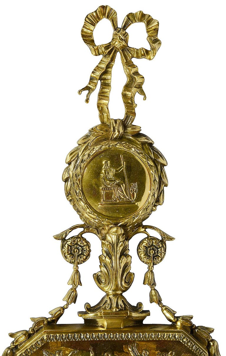 Louis XVI Large Pair of French 19th Century Ormolu Wall Lights For Sale