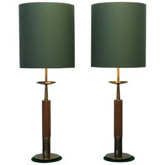 Large Pair of 1960s American Midcentury Table Lamps, the Stiffel Lamp Company