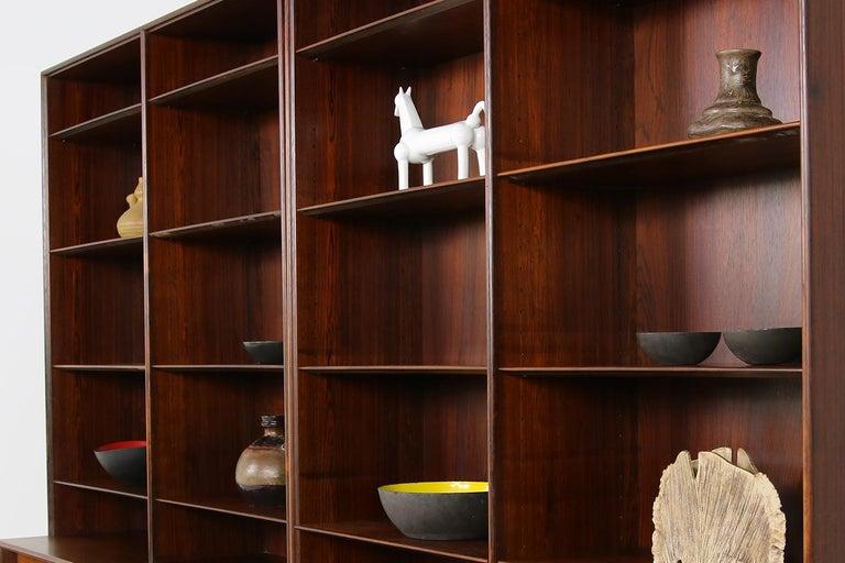 Großes Paar Sideboards Bücherregale Dänische Moderne Regale der 1960er, Ole Wanscher 5