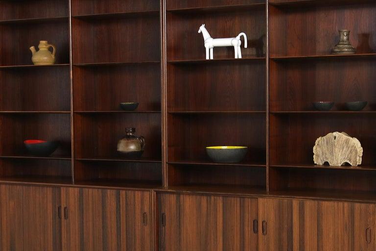Großes Paar Sideboards Bücherregale Dänische Moderne Regale der 1960er, Ole Wanscher 7