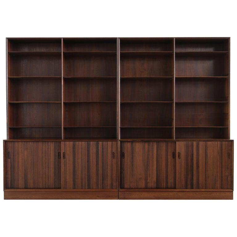 Großes Paar Sideboards Bücherregale Dänische Moderne Regale der 1960er, Ole Wanscher 1