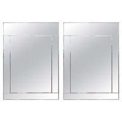 Large Pair of 1970s Mirror Framed Mirrors