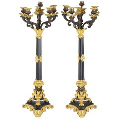 Large Pair of 19th Century Candelabra