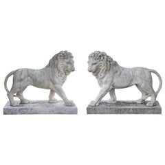 The Large Pair of Coade Standing Lions