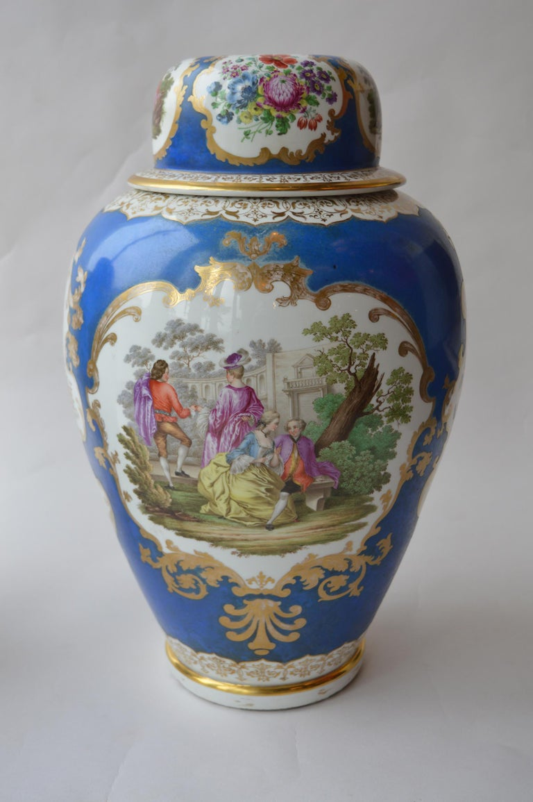 German Large Pair of Continental Meissen Style