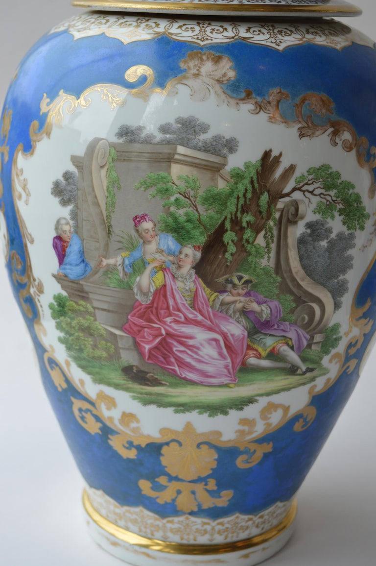 19th Century Large Pair of Continental Meissen Style