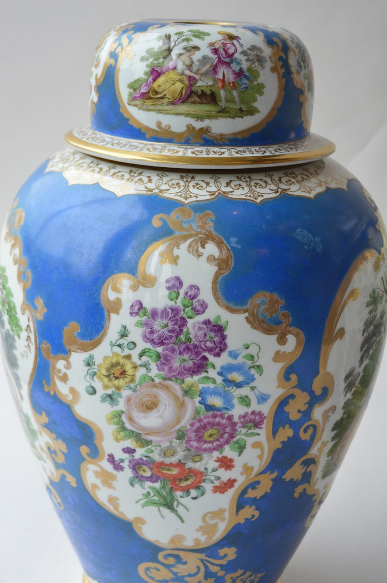 Large Pair of Continental Meissen Style