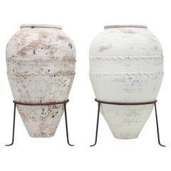 Large pair of early 20th Century Mediterranean Olive Jar, circa 1930s