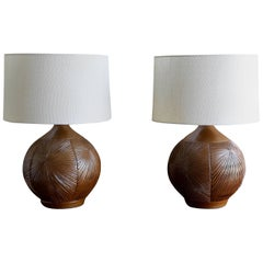 Large Pair of Earthgender Lamps by David Cressey & Robert Maxwell