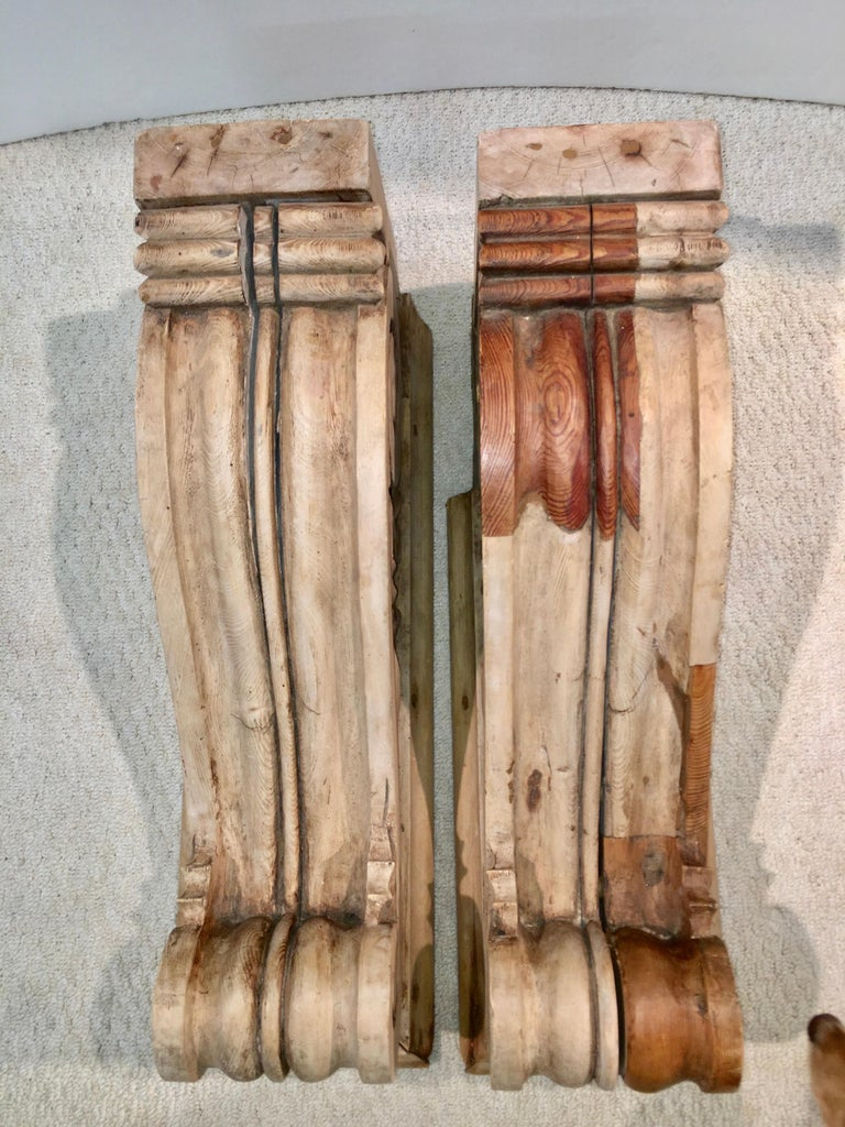 Large Pair of English Antique Corbels  For Sale 3