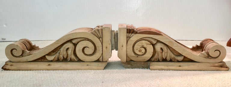 Large Pair of English Antique Corbels  For Sale 7