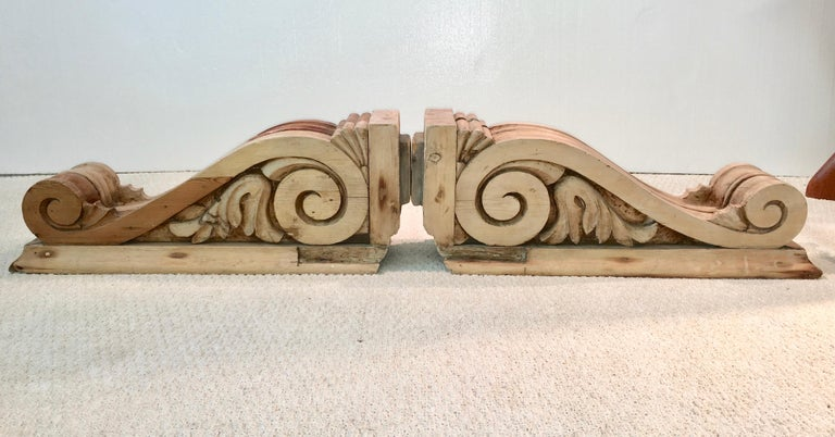 Large Pair of English Antique Corbels  For Sale 9